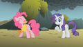 Pinkie Pie swings a rubber chicken S1E07.png