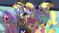 Ponies afraid of Queen Chrysalis S2E26.png