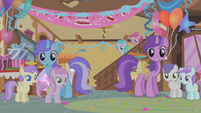 Ponies look aghast S1E12
