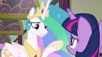 Princess Celestia -very specific about- S8E1