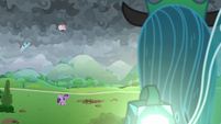Queen Chrysalis observing the battle S9E25