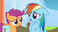 "Rainbow Dash ""cheer me on even when I lost!"" S7E7"