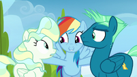 Rainbow Dash --two of the greatest flyers-- S6E24