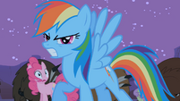 Rainbow Dash super angry S01E21