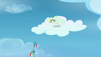 Rainbow and Vapor diving from the cloud S6E24
