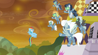 Rainbow stopped by Sombrafied Wonderbolts S9E2