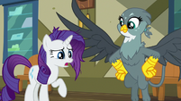 Rarity's mane gets slightly messy S9E19