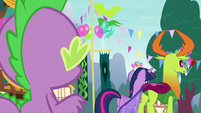 Spike watches Twilight and Thorax walk away S7E15