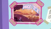 Star Swirl's postcard taped to the window S8E16