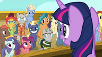 Twilight Sparkle congratulates Star Tracker S7E22