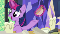 Twilight Sparkle shows antique teacup to Sunburst S7E24