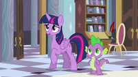 Twilight and Spike feel bad for Celestia S4E01