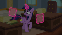 Twilight levitating another piece of paper S8E16
