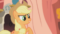 Applejack challenges Rarity S1E8.png