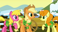 Applejack with Cherry & Golden S1E11