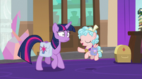 Cozy telling Twilight not to worry S8E25