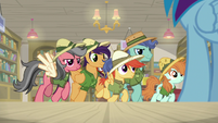 Daring Do fans leaving the bookstore S9E21