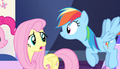 "Fluttershy ""Maybe I'll stay here with Spike"" S5E1.png"