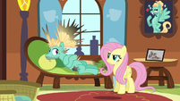 Fluttershy not buying Zephyr's act S6E11