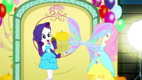 Fluttershy presents butterfly wings to Rarity SS2