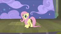 Fluttershy starts narrating the play S8E7
