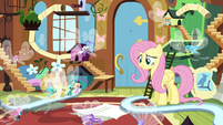 Fluttershy telling Breezies it's time to go S4E16