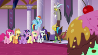 Fluttershy thanking Discord S9E2