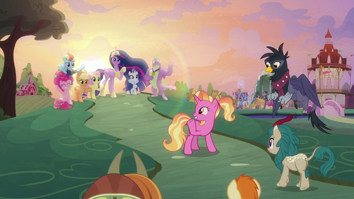 Luster waves goodbye to the Mane Six S9E26