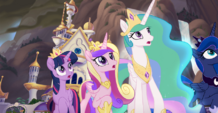 MLP The Movie Hasbro website - Princesses in shock