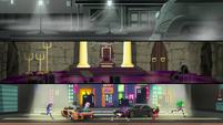 Mane Seven runs through a racing movie set EGS2