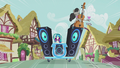 Octavia and DJ Pon-3 speed down the street S5E9.png