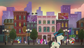 Pinkie, Rarity, and Maud in front of future site of Rarity for You S6E3.png