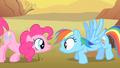 Pinkie Pie scares Rainbow Dash S1E21.png