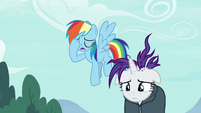 Rainbow Dash and Rarity despondent S7E19