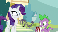 Rarity gives V.I.P. passes to Spike S9E19