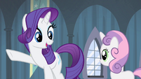 Rarity requests an encore of Sweetie's play S4E19