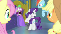 Rarity trying to pull wheels off her hoof MLPS2