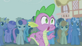 Spike stunned by Rarity's new look S1E06.png