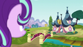 Starlight looking at the Ponyville Day Spa S6E6.png