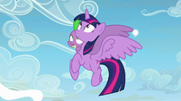 Twilight Sparkle and Spike looks up at Twilight S5E26