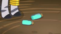 Zecora's bottles fall on the floor S7E19