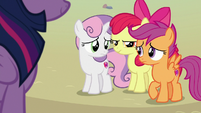 Apple Bloom glaring at her friends S8E6