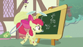 Apple Bloom writing on the chalkboard S2E06.png