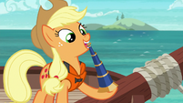 Applejack extending a telescope S6E22