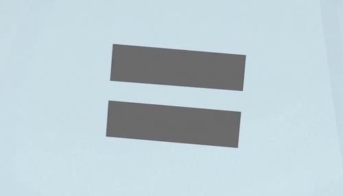 Blue mare equal sign cutie mark close-up S5E1