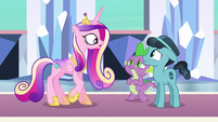 "Cadance ""any friend of Spike the Brave and Glorious"" S6E16"