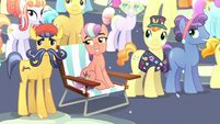 "Crystal Ponies watching the ""fireworks"" of Flurry Heart's magic beams S6E2"