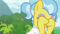 Dr. Fauna rubbing her eyes S9E18