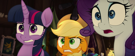 Main ponies shocked by Tempest's appearance MLPTM