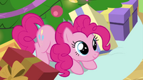 Pinkie sitting cutely under the tree BGES2